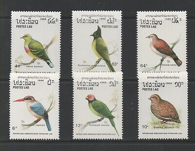 Thematic Stamps Animals - LAOS 1988 BIRDS 1093/8  6v mint