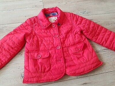 OnMe BOUTIQUE GIRLS RED QUILTED COAT JACKET SZ 3 - 4 YEARS
