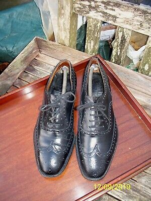 Church's 'Chetwynd' Black Brogues Leather Men's Shoes UK 8.5 - Vintage USED.