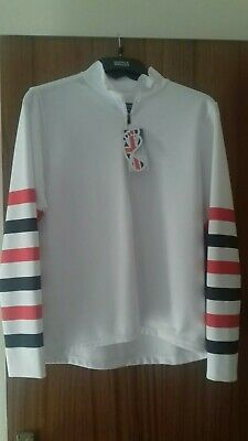 New Equetech Red,Black &White Cross Country Colours. Size Small.