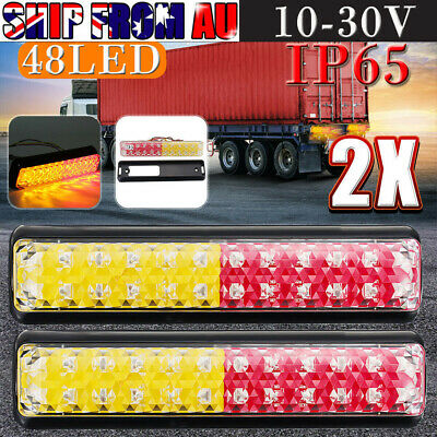 10-30V Trailer LED Tail Lights Truck Ute Caravan Boat Stop Indicator IP65 New