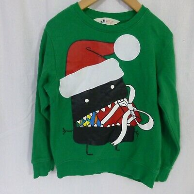 Boys H&M Christmas sweatshirt  jumper age 6-8 years