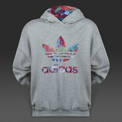 Adidas Originals Girls S Rose Hoodie S96103 - Grey Heather