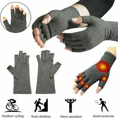 Compression Fingerless Gloves Anti Arthritis Finger Brace Support Pain Relief UK
