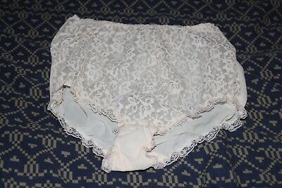 St MICHAEL M&S VINTAGE DOUBLE-LAYER PEACH NYLON PANTIES KNICKERS