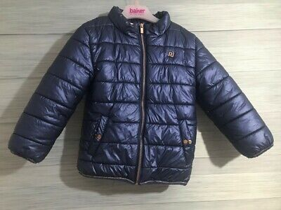Girls Blue and Gold 4-5 Years River Island Coat