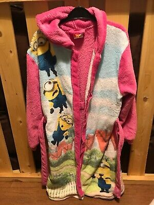 Girls 9-10 Years Fleece Dressing Gown, Minions, Georgw