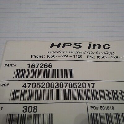 Five Case IH New Holland O Ring Part # 167266 Made in the USA