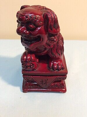 "Chinese Red Resin Dragon Ornament 5"" Tall"