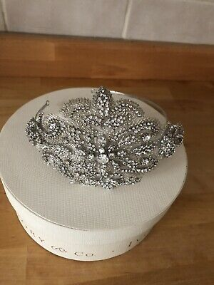 Ivory and Co - Zara Vintage Inspired Crystal Bridal Tiara/side Headband Wedding