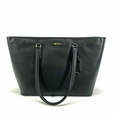 Tumi Voyageur Carolina Black Leather Tote Bag Gold Hardware 17006D