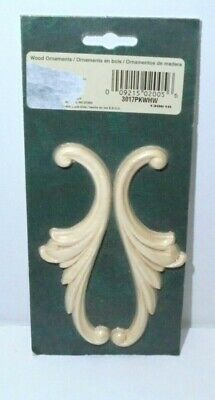Woodworking Scroll Wood Mouldings Composite Wood 2 pack NEW