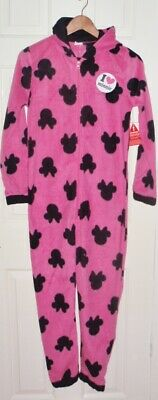 NWT Disney girls MINNIE MOUSE pink light fleece all in one pyjamas 13-14 years