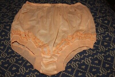 Vintage Keynote Peach Panties Knickers Size 39-41""