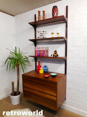 Mid Century Retro Vintage 60s Danish ROSEWOOD CADO Wall Shelving System Unit