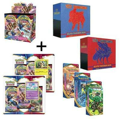 Pokemon Sword & Shield Booster Box All Elite Trainers 3-Pack Blister Theme Decks
