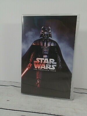 Star Wars: Complete Saga Episodes 1-6 Movie Box Set (12-Disc DVD) #K