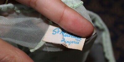 St MICHAEL M&S VINTAGE  MINT GREEN NYLON PANTIES KNICKERS
