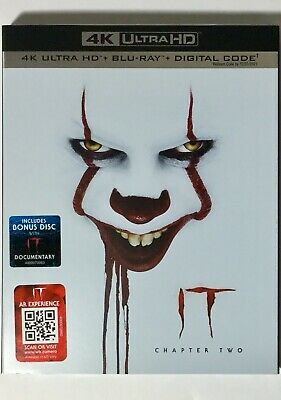 IT Chapter Two 4K Blu-ray Digital Slipcover Brand NEW +Bonus Disc FREE~Shipping!