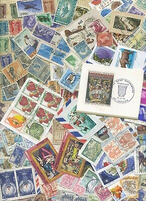 World Kiloware QUALITY STAMPS 250+ on/off paper HV GC 2 scans LOOK LOT 3/4