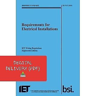 18th EDITION ! IET WIRING REGULATIONS BS7671:2018 BS7671 2018 Wiring Regs B00K
