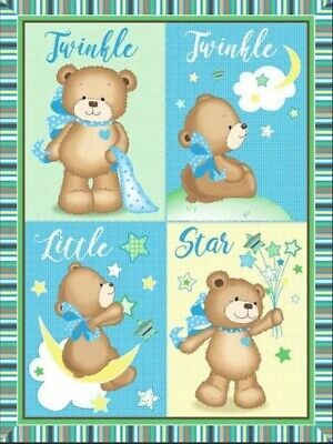 Baby Quilt Panel * Twinkle Twinkle Little Star * New * Free Post *