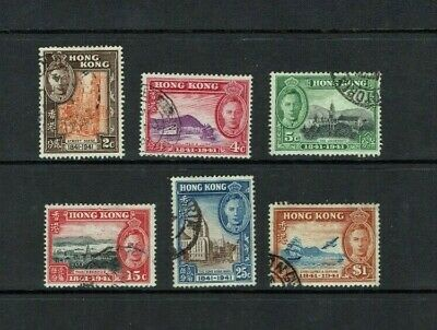 Hong Kong: 1941  Centenary of British Occupation, good used set