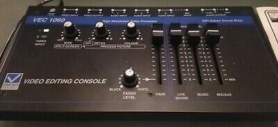Video Editing Console VEC1060 Boxed With Manual Video Tech Made in England