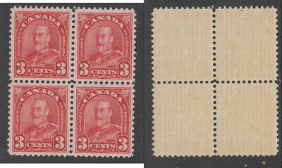 MNH Canada 3 Cent KGV Arch Block of 4 #167 (Lot #16161)