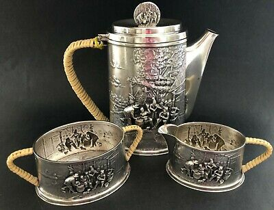 Antique Hans Jensen (Denmark) Silver Tea Set