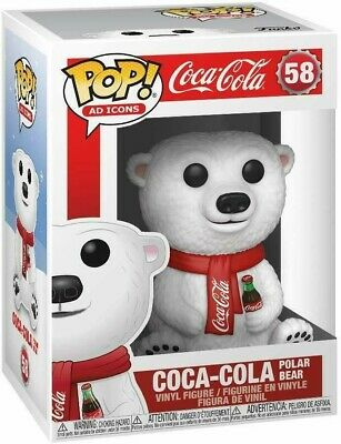 Funko Pop AD Icons: Coca-Cola - Polar Bear Vinyl Figure #58 NIB
