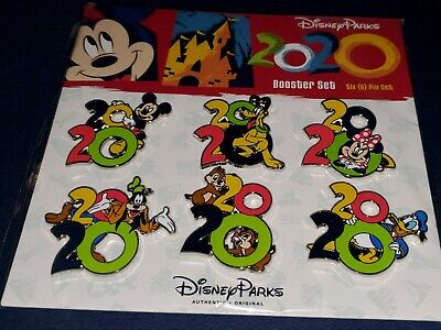 Disney Pins 2020 6 Pin Booster Mickey Pluto Minnie Goofy Chip Dale Donald NEW