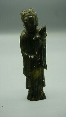 Antique old 17th Jade monk figure of Guanyin asian chinese oriental figurine