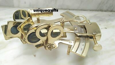 """Christmas 4"""" Brass Sextant working equipment with Telescopes - Sextent Astrol"""