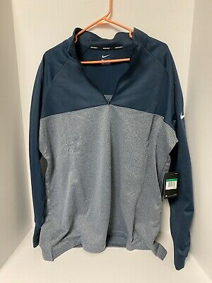 Nike Golf Half Zip Pullover Therma Fit  Mens Size Xl Blue Gray