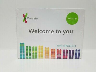 23andMe Ancestry Saliva Collection Kit - Personal Genetic DNA Test => SEALED.
