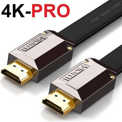 0.5M-15M FLAT ULTRA HD 4K 3D HDMI CABLE v2.0 HIGH SPEED + ETHERNET HDTV 2160p