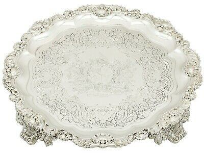 Antique George III Sterling Silver Salver by Paul Storr 1819