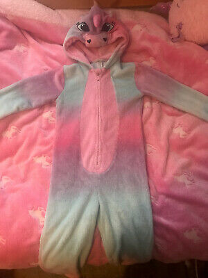 Winter Night Pyjama Suit Unicorn Girl 7-8 Years