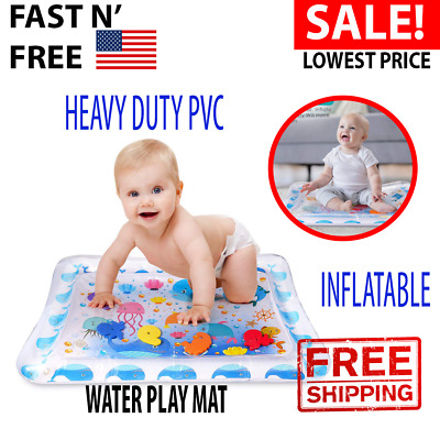 Baby Water Play Mat Tummy Time Inflatable Floor Activity Gym Crawling Kids New