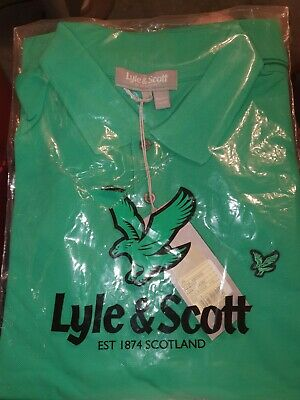 Lyle And Scott Polo T Shirt Golf Green