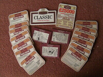 Collection Of 18 Old Castella Classic Beer Mats