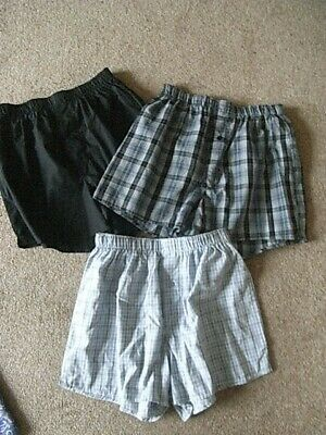 3 Pairs Of Bnwot Cotton Boxer Shorts Size Small