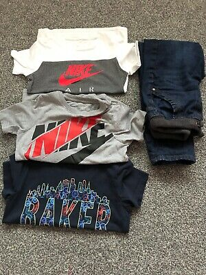 Boys Clothing Bundle Nike T-shirt's Ted Baker Jeans Age 8