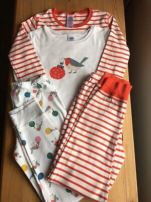 Two Pairs Of Mini Boden Girls Age 9 Christmas Pyjamas