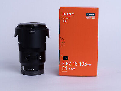 Sony E PZ 18-105mm f4 G OSS Lens - Excellent Condition - boxed with caps + hood