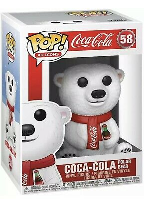 Funko Pop W/ Protector AD Icons: Coca-Cola - Polar Bear Vinyl Figure Mint