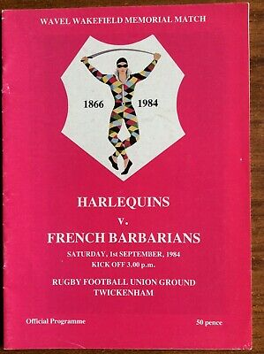 Harlequins V The French Barbarians 1984