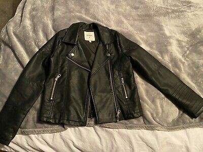 Girls M&S black leather Jacket Age 9 to 10 yrs