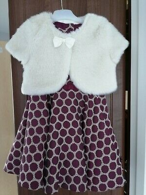 Beautiful Girls Jasper Conran Party Dress & Shrug Age 3-4 Years. Excellent Cond